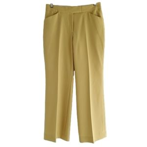 Anne Klein yellow Chartreuse career work pant